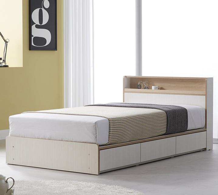 [렌탈] 나오미 LED 수납 침대 프레임 슈퍼싱글(SS)  / 월 19,800원