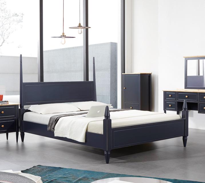 [렌탈]벨리제 고무나무 원목 침대 프레임  퀸(Q) / 월 33,800원