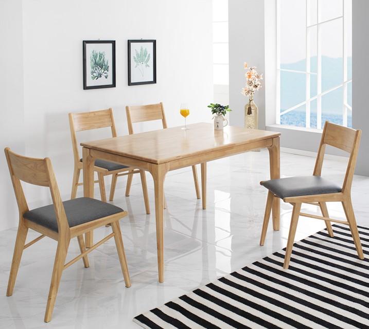 [렌탈]그레텔 고무나무 원목 2인 식탁 세트 (의자형 / 의자2ea)  / 월 17,800원