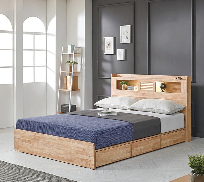 [렌탈] 알도 고무나무 침대 퀸 (Q) / 월 19,800원