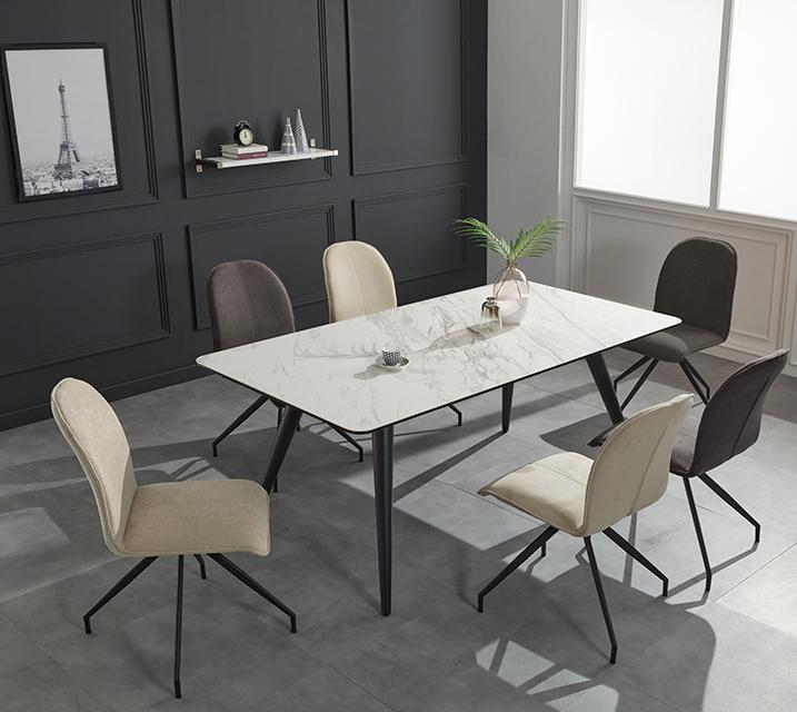[렌탈] 로자 천연 세라믹 4인용 식탁 테이블 [의자 미포함] /월35,800원