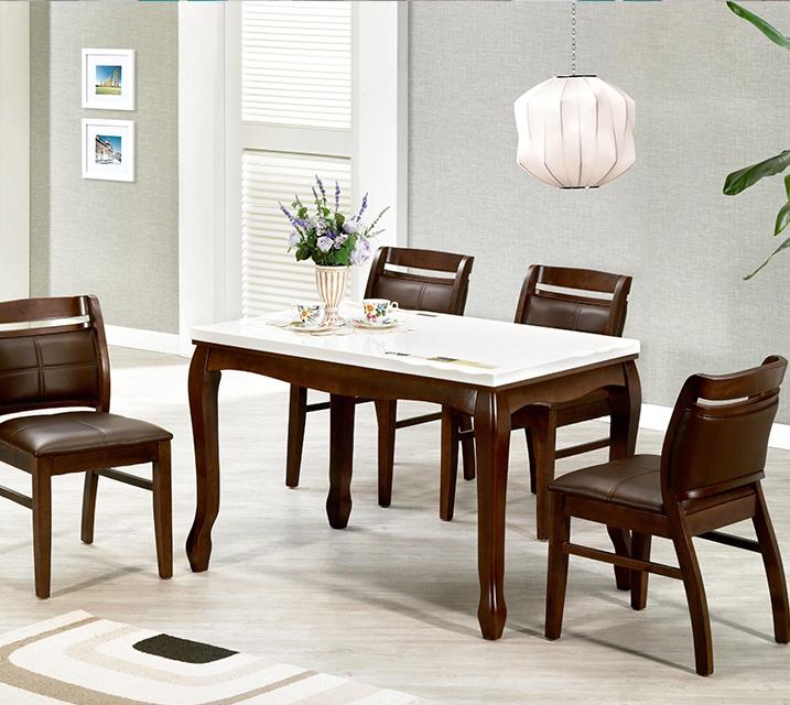 [렌탈] 블란치 천연대리석 2인 식탁 (의자형 / 의자 2ea) / 월 19,800원