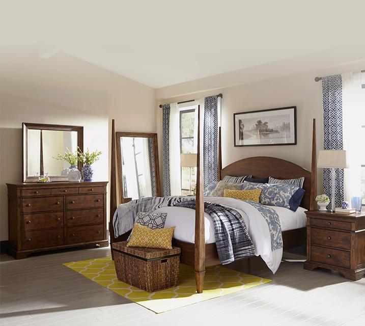 [렌탈] 920-150 Jasper Collection Poster Bedroom Q Set [침대프레임+화장대+거울+협탁] / 월 123,800원