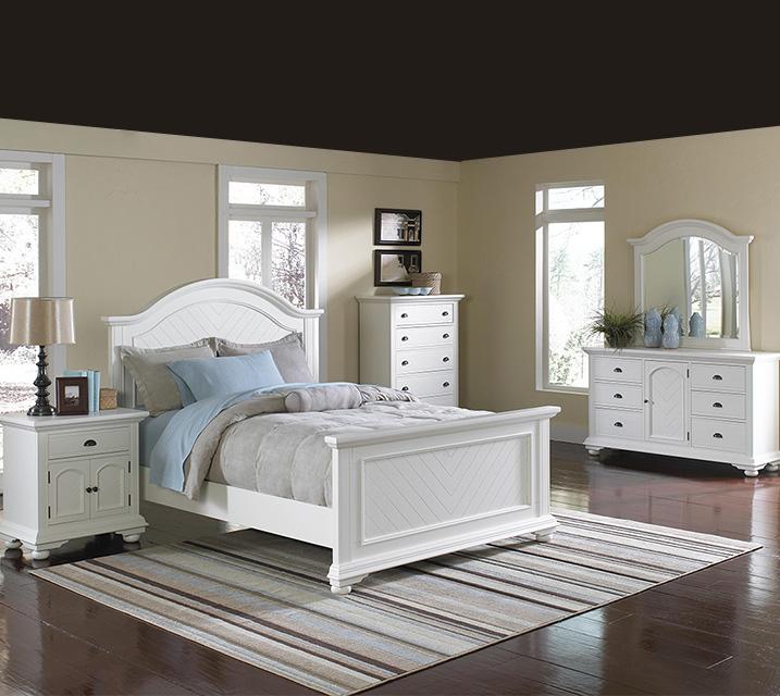 [렌탈] BP700 Brook Collection Bedroom Q Set [침대프레임+화장대+거울+협탁] / 월 65,800원