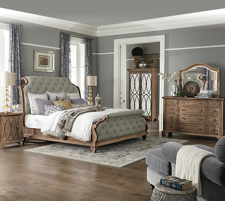 [렌탈] 791 Jasper County collection Bedroom EK Set [침대프레임+화장대+거울+협탁] / 월 163,800원