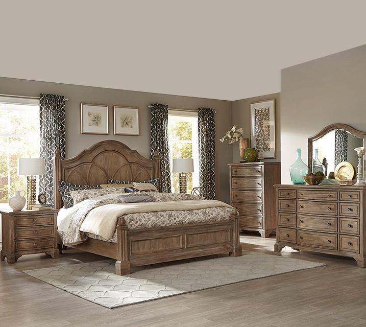 [렌탈] 791 Jasper County collection Poster Bedroom EK Set [침대프레임+화장대+거울+협탁] / 월 155,800원