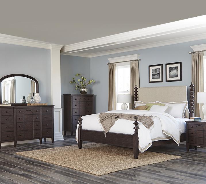 [렌탈] 969 Charleston Collection Poster Bedroom EK Set [침대프레임+화장대+거울+협탁] / 월 135,800원