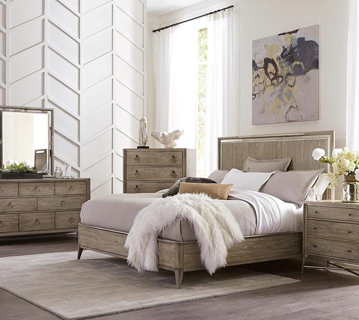[렌탈] 50380 Sophie Panel Bedroom EK Set [침대프레임+화장대+거울+협탁] / 월 131,800원