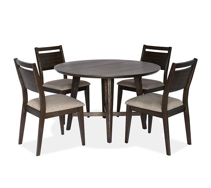 [렌탈] 1173 라운드 4인 식탁세트 [ 테이블 + 의자 4개 ] - 브라운 / 월 63,800원