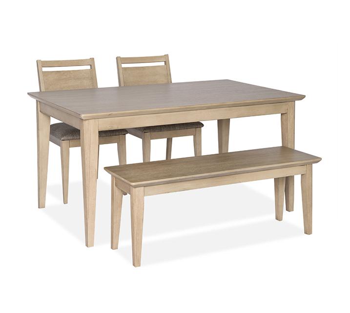 [렌탈] 1183 4인 식탁세트 [ 테이블 + 의자4개 ] - 오크 / 월 63,800원