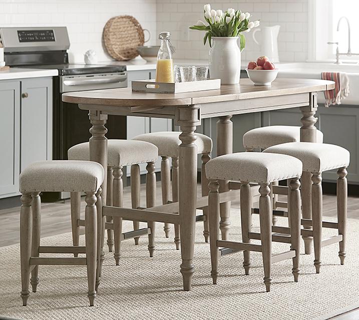 [렌탈] 750 Nashville Collection 홈바 식탁세트 [ 테이블 + 의자 4개 ] / 월 83,800원