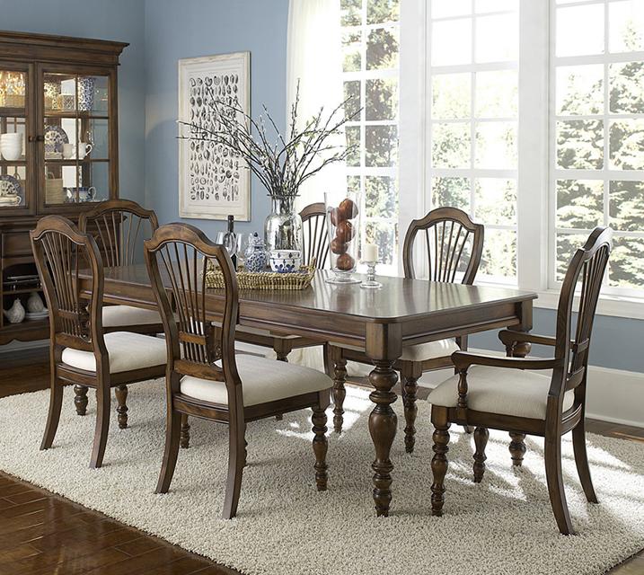 [렌탈] 4860 Pine Island Collection 6인 식탁세트 [ 테이블 + 암체어 2개 + 사이드체어 4개 ] / 월 115,800원