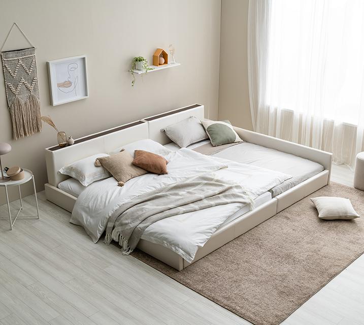 [렌탈] 데이지 패밀리 침대 [화이트] Q+SS+PVC 깔판 / 월 25,800원