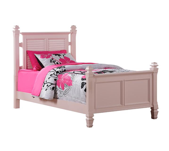 [렌탈] 2697 'Belmar Youth' Collection - Full Poster Bed 주니어 풀 (더블) 침대 [ 매트리스 포함 ] - 핑크 / 월 77,800원