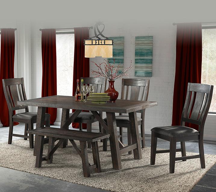 [렌탈]DCS100 Cash Collection 6인 식탁세트 [테이블+벤치+의자 4개] / 월 67,800원
