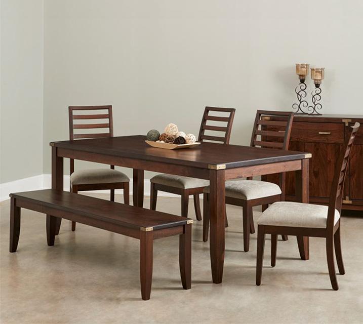 [렌탈] IKOL Kolbe Collection 6인 식탁세트 [테이블+벤치+의자 4개] / 월 103,800원