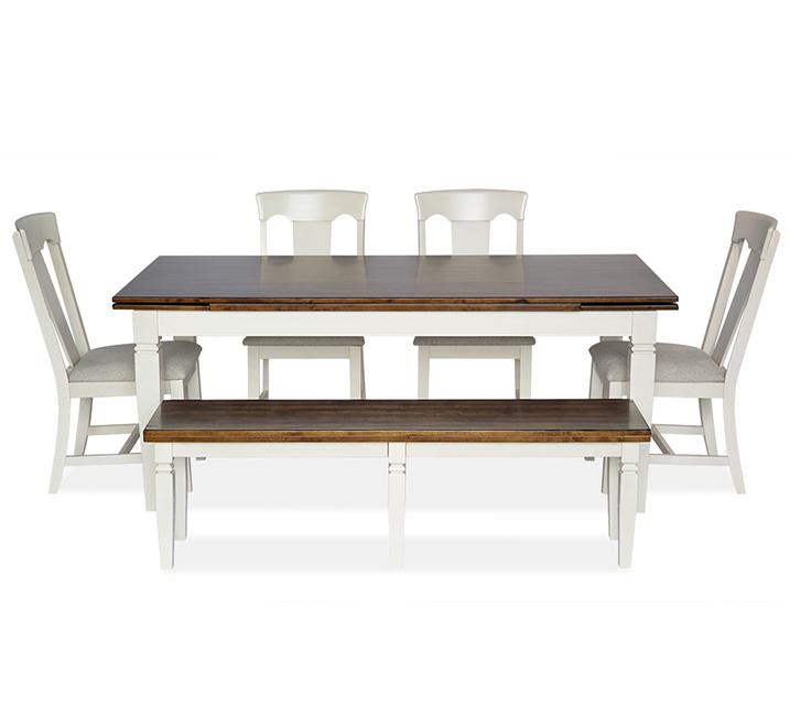 [렌탈] 1139-3810 6인 식탁세트 [테이블+벤치+의자 4개] / 월 85,800원