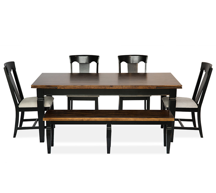 [렌탈] 1140-3810 6인 식탁세트 [테이블+벤치+의자 4개] / 월 85,800원