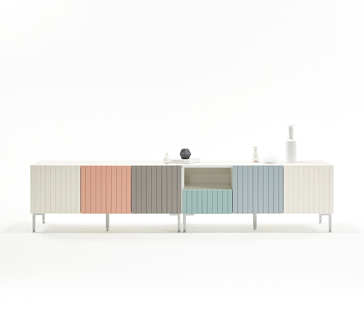 [렌탈] 무광 레트로시리즈 라인 서랍형 거실장 2400 / 월 21,800원
